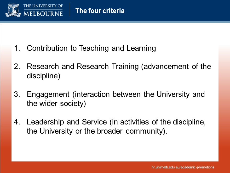 Contribution to Teaching and Learning