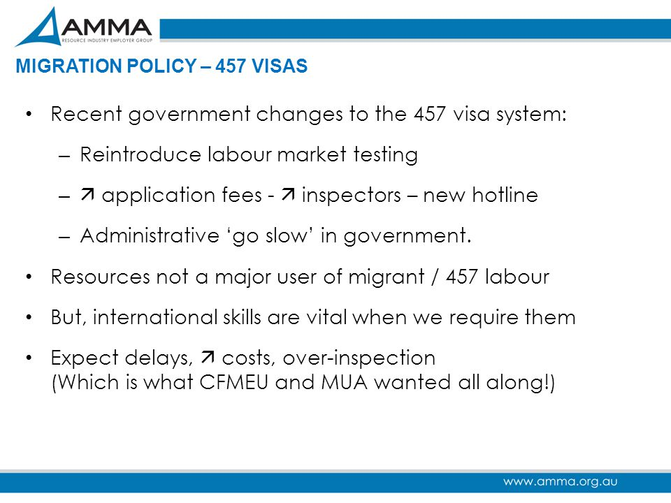 Recent government changes to the 457 visa system: