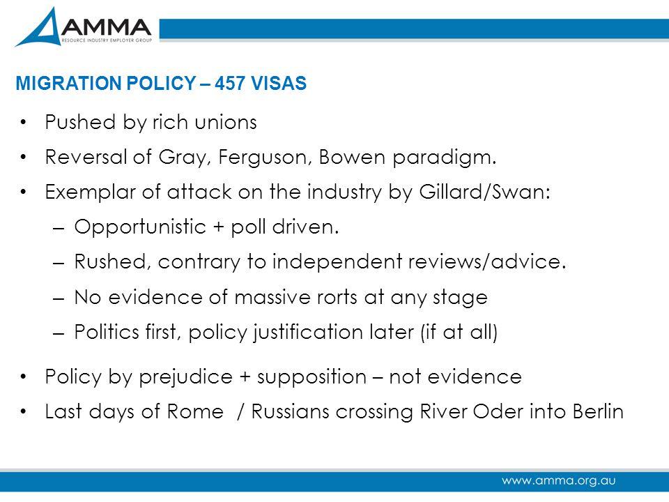 Reversal of Gray, Ferguson, Bowen paradigm.