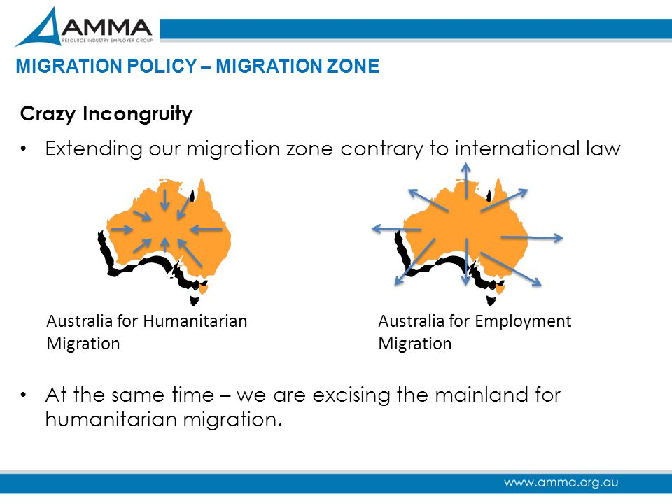 Extending our migration zone contrary to international law