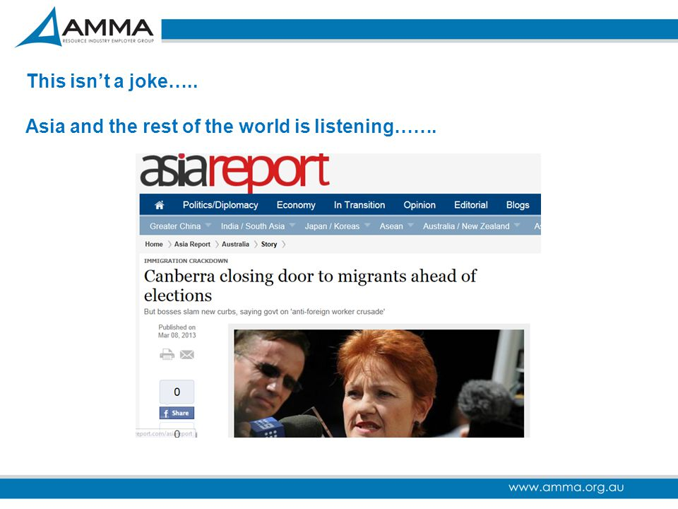 This isn't a joke….. Asia and the rest of the world is listening…….