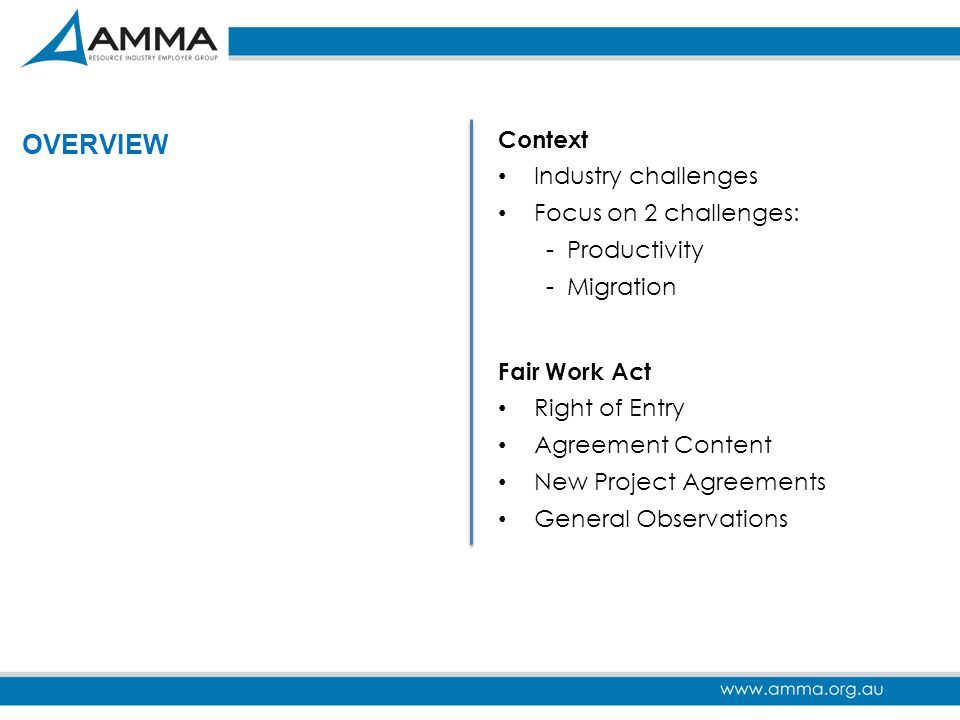 OVERVIEW Context Industry challenges Focus on 2 challenges: