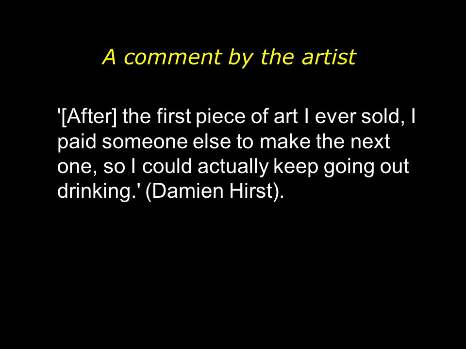 A comment by the artist