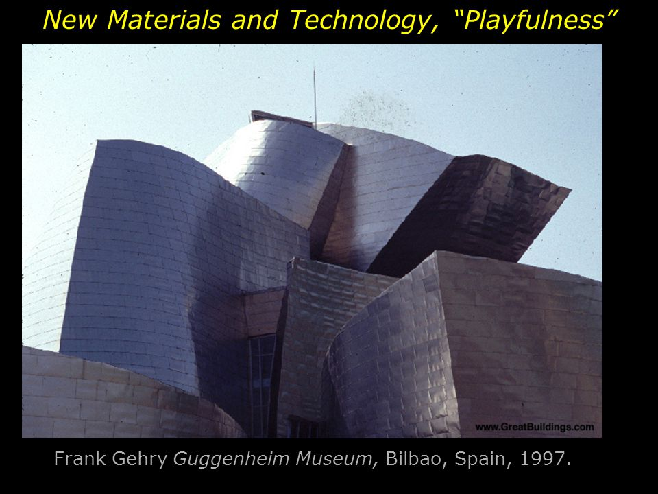 Frank Gehry Guggenheim Museum, Bilbao, Spain, 1997.