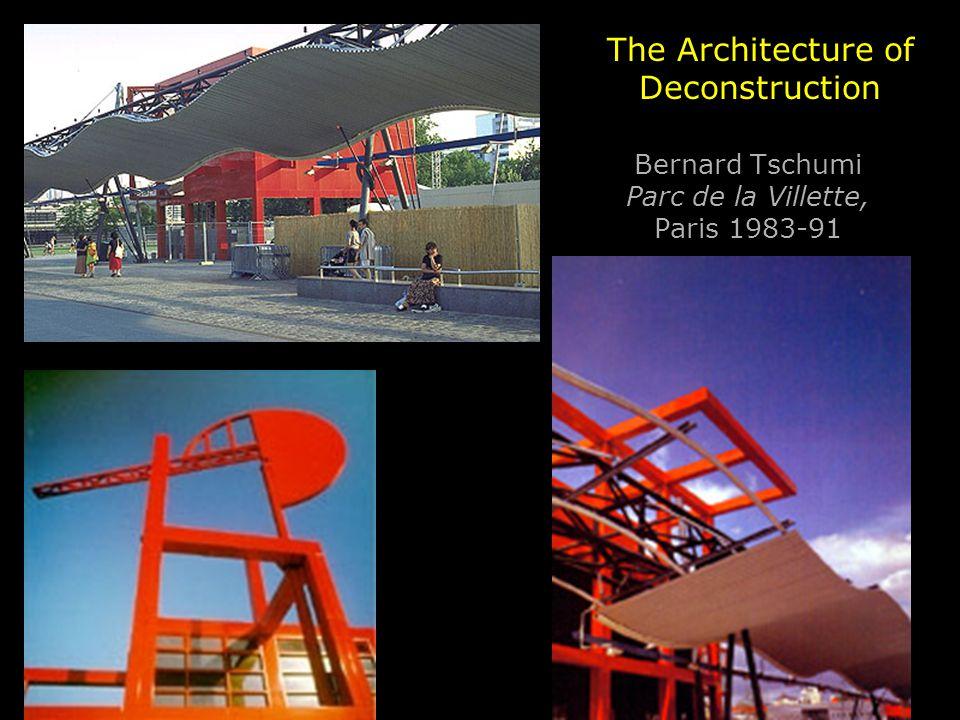 Bernard Tschumi Parc de la Villette, Paris 1983-91