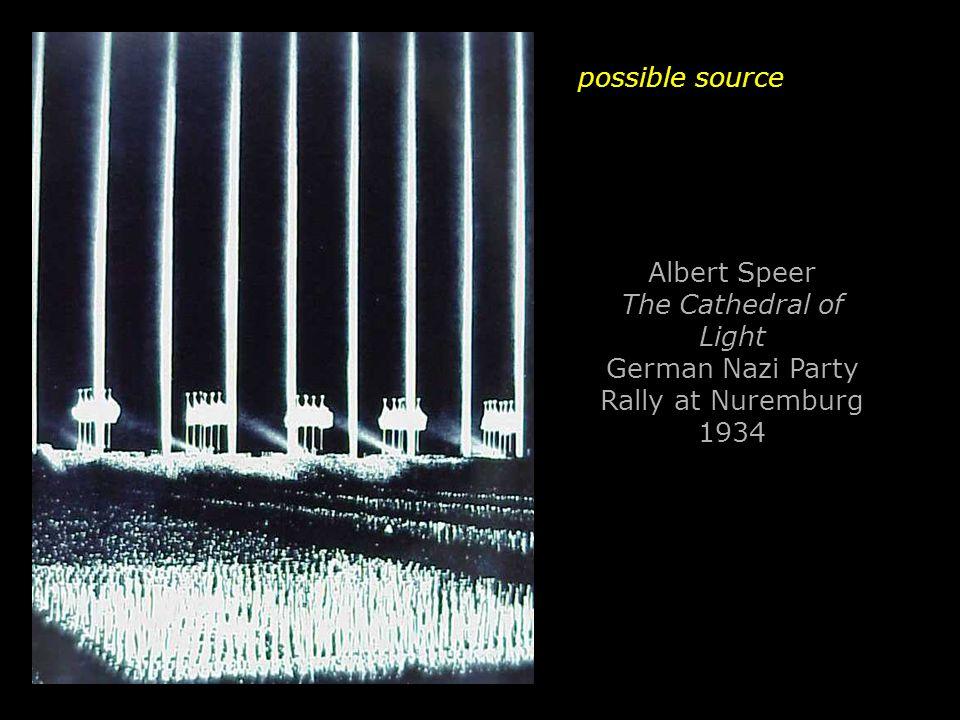 possible source Albert Speer The Cathedral of Light German Nazi Party Rally at Nuremburg 1934