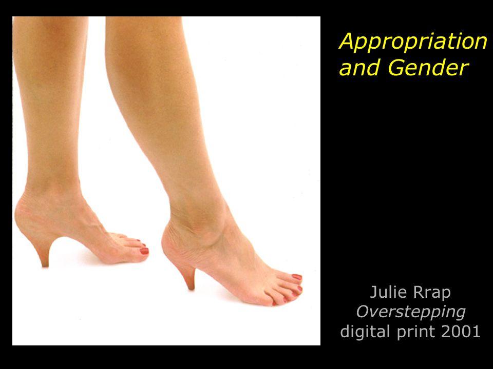 Julie Rrap Overstepping digital print 2001