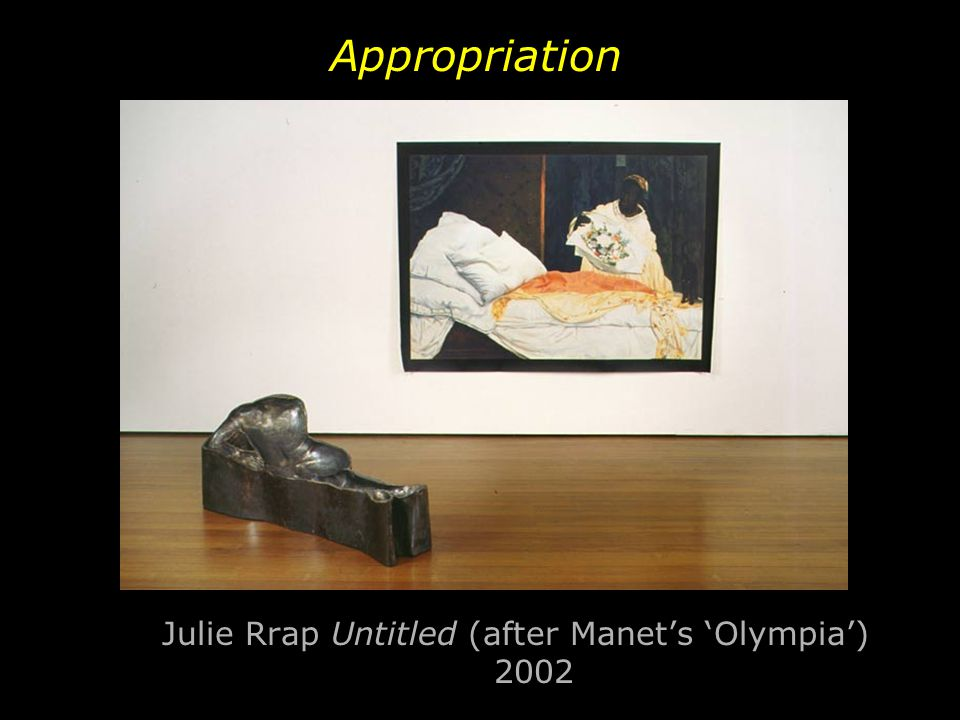 Julie Rrap Untitled (after Manet's 'Olympia') 2002