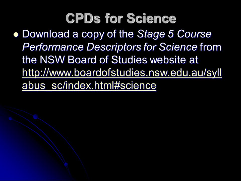 CPDs for Science