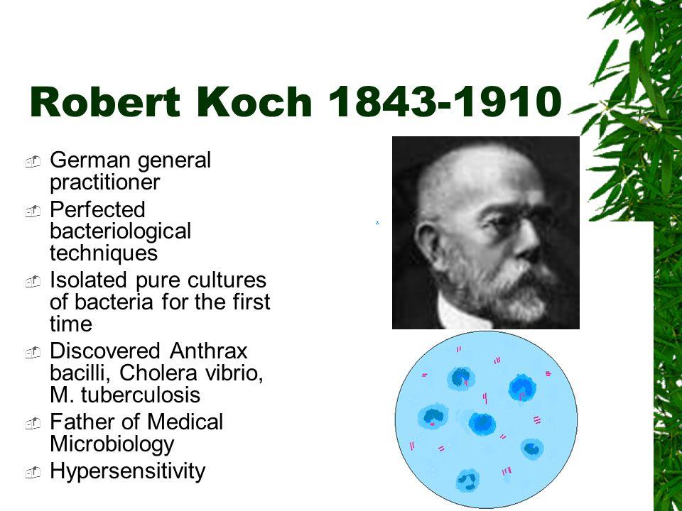 Robert Koch 1843-1910 German general practitioner