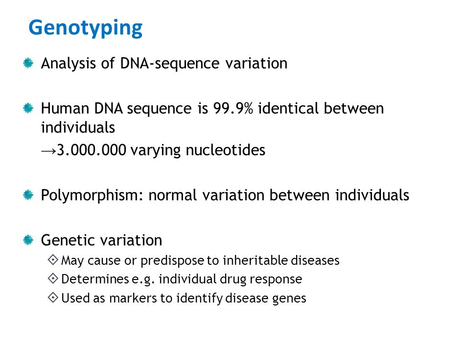 Genotyping Analysis of DNA-sequence variation