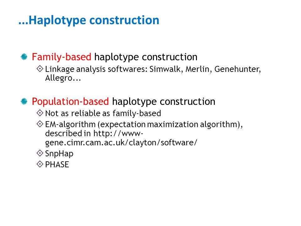 ...Haplotype construction