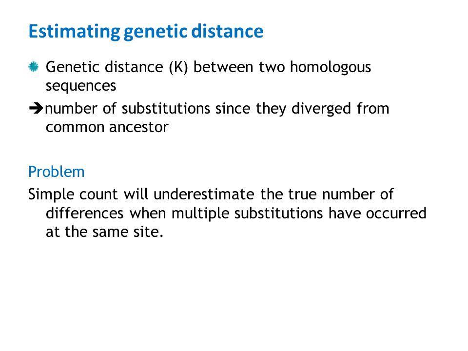 Estimating genetic distance
