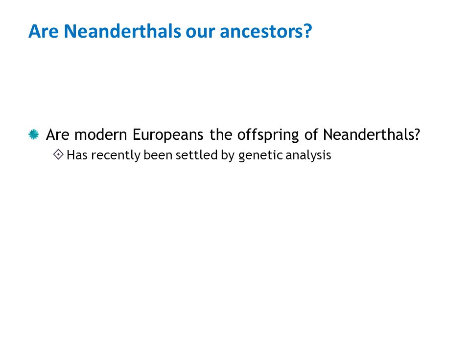 Are Neanderthals our ancestors