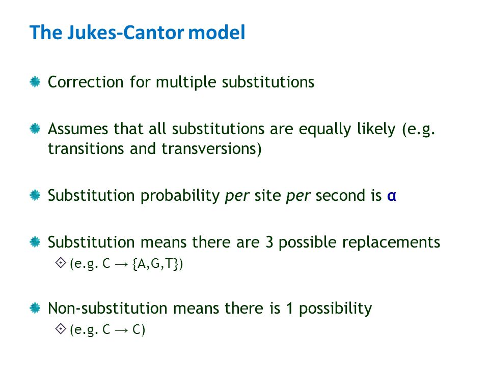 The Jukes-Cantor model