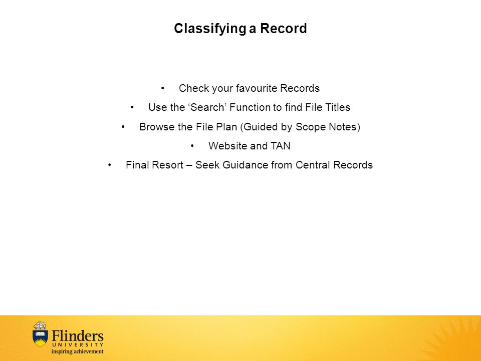 Classifying a Record Check your favourite Records