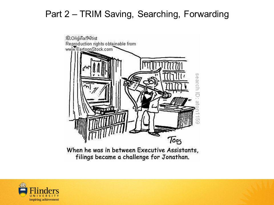 Part 2 – TRIM Saving, Searching, Forwarding
