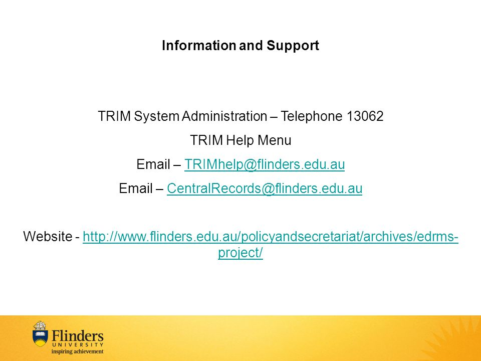 Information and Support