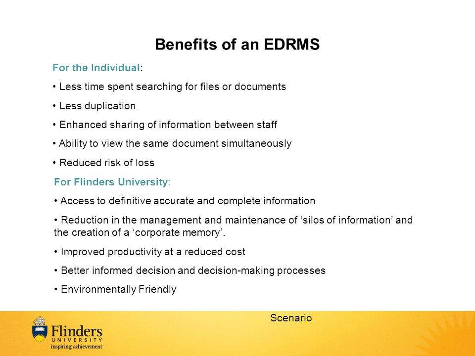 Benefits of an EDRMS For the Individual:
