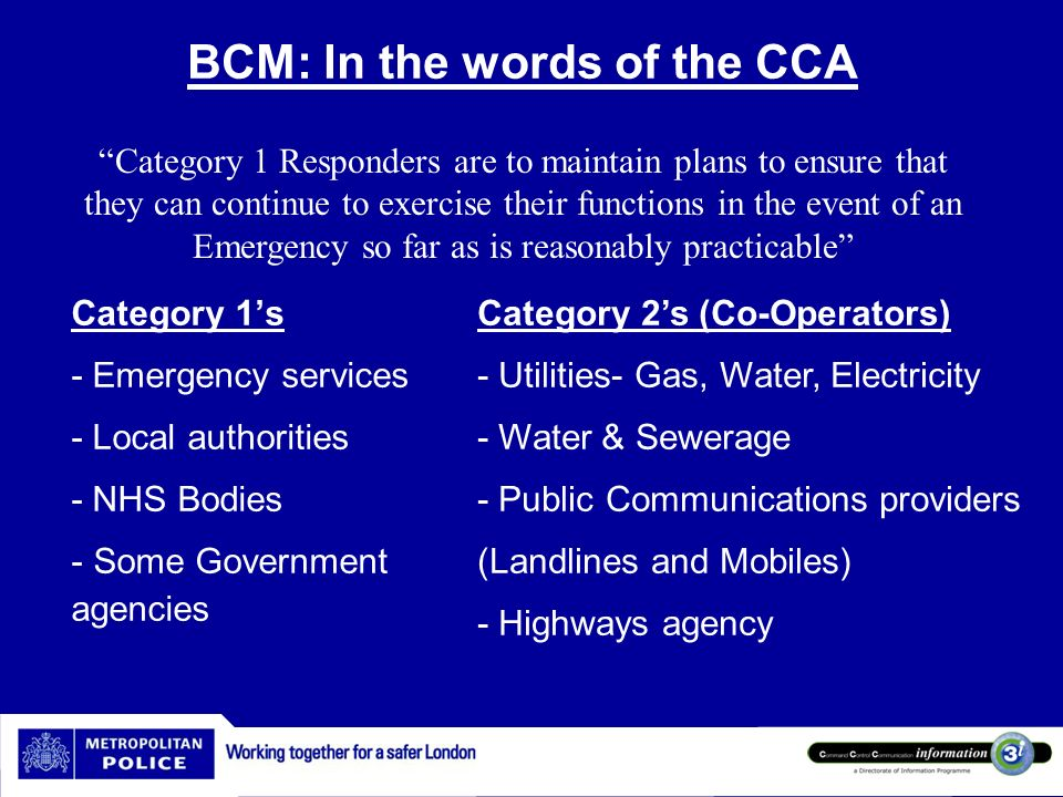 BCM: In the words of the CCA