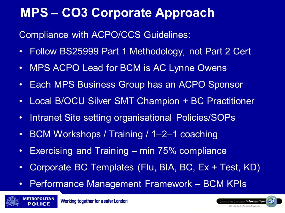 MPS – CO3 Corporate Approach