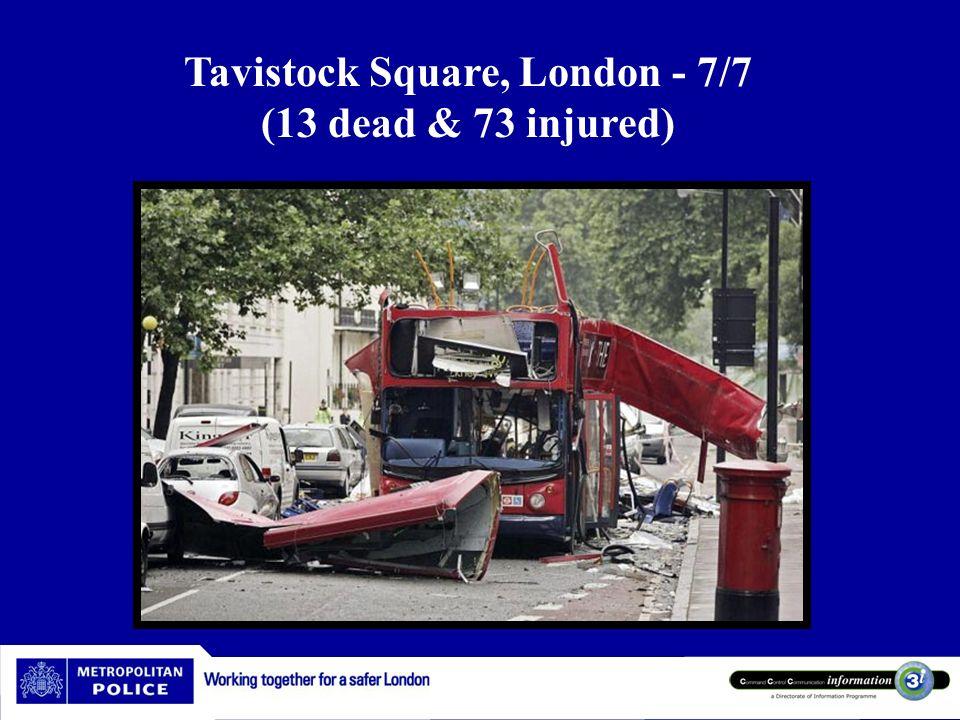 Tavistock Square, London - 7/7 (13 dead & 73 injured)