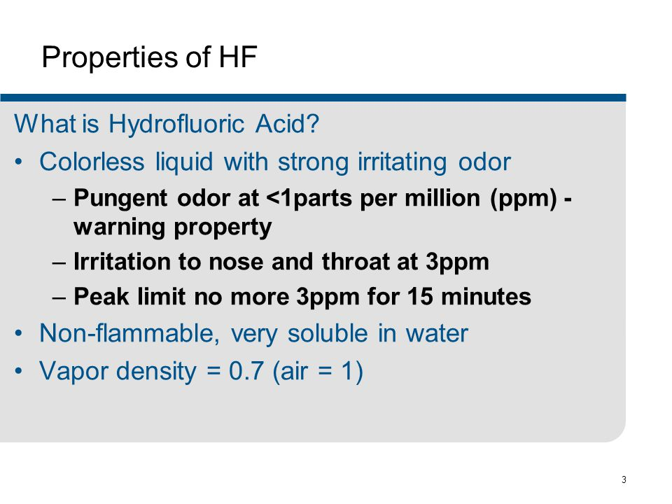 Properties of HF What is Hydrofluoric Acid