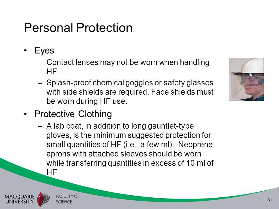 Personal Protection Eyes Protective Clothing