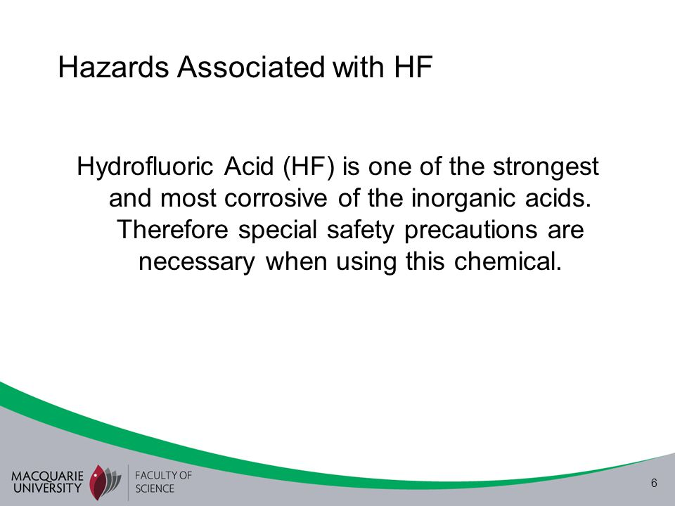 Hazards Associated with HF