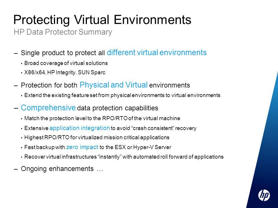 Protecting Virtual Environments