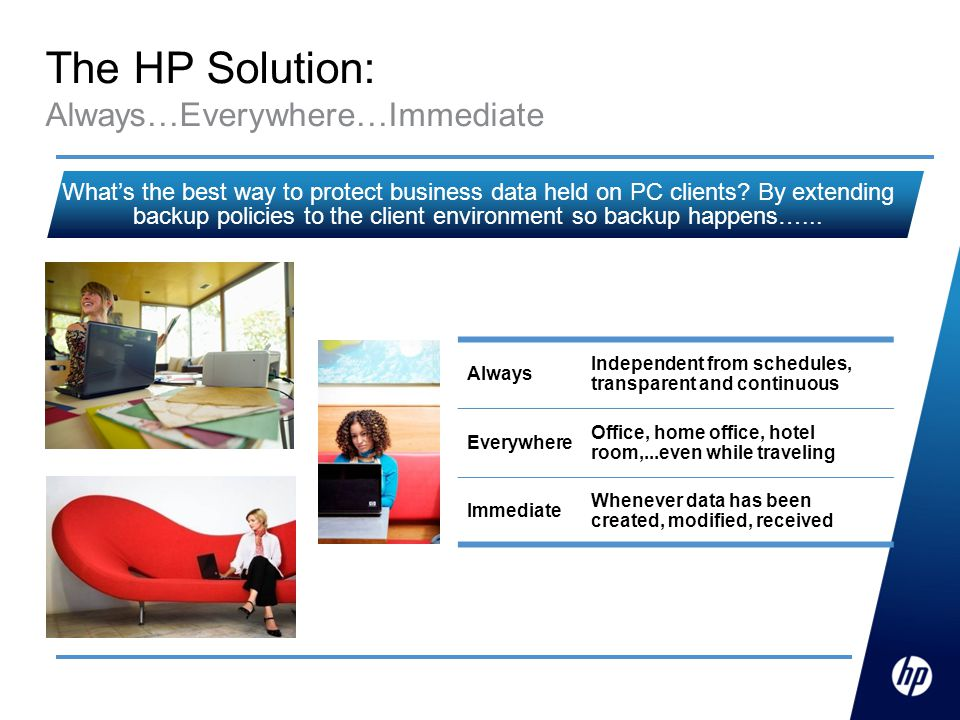 The HP Solution: Always…Everywhere…Immediate