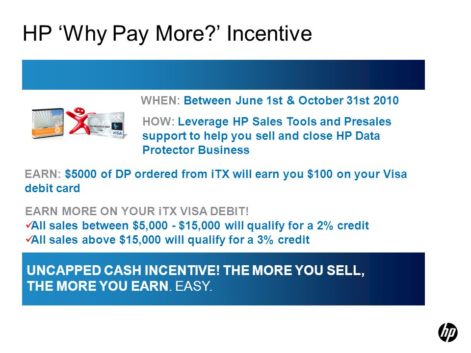 HP 'Why Pay More ' Incentive