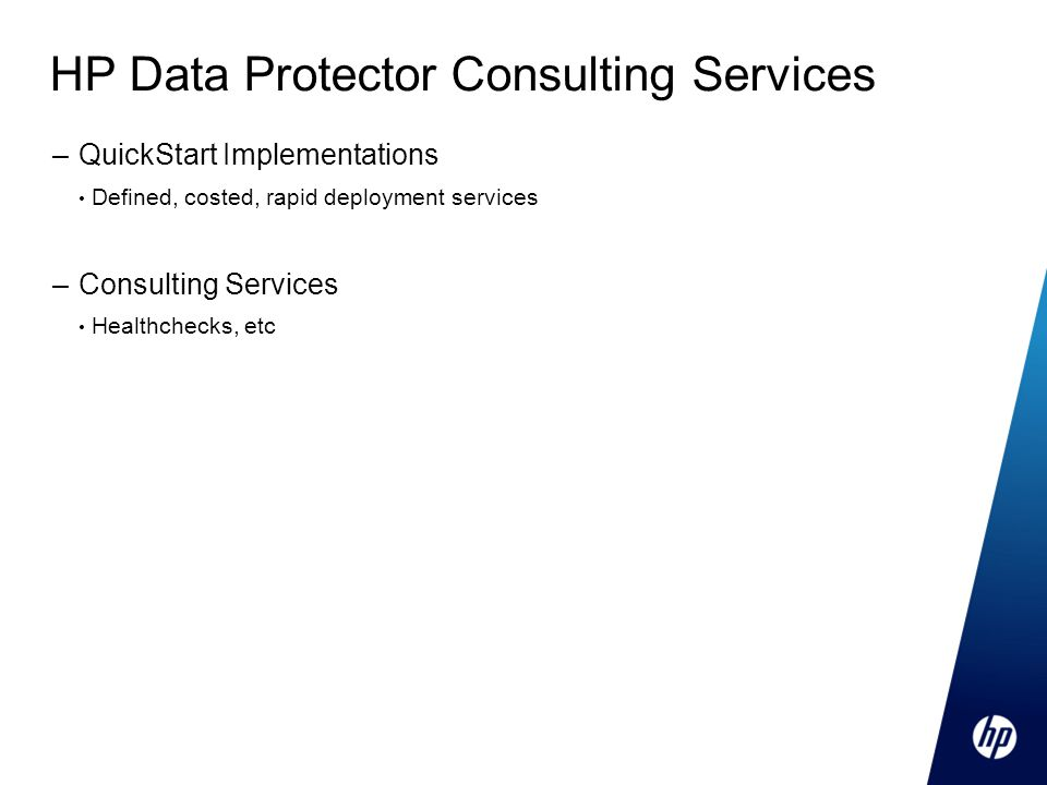 HP Data Protector Consulting Services