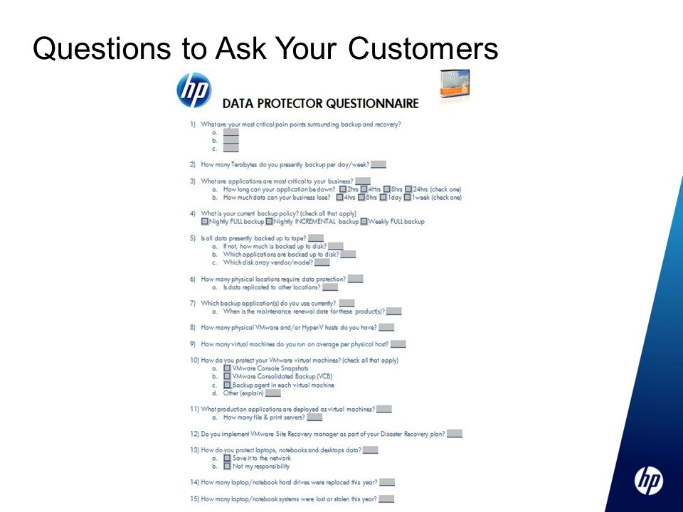 Questions to Ask Your Customers