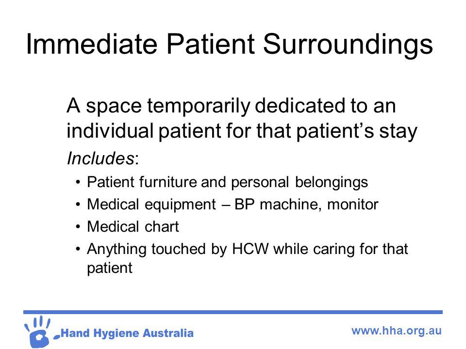 Immediate Patient Surroundings