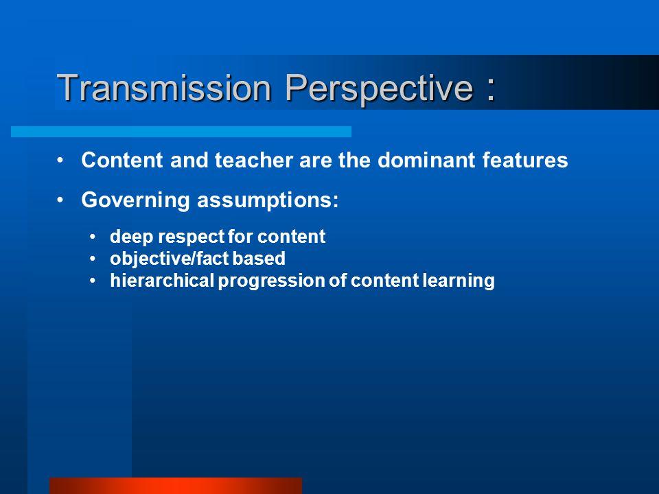 Transmission Perspective :
