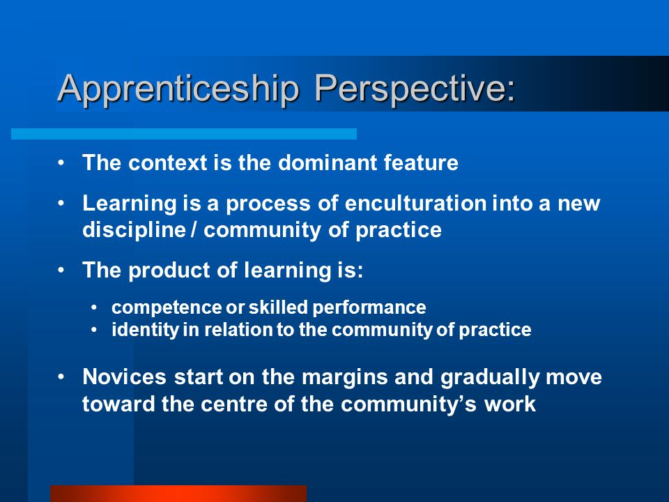 Apprenticeship Perspective: