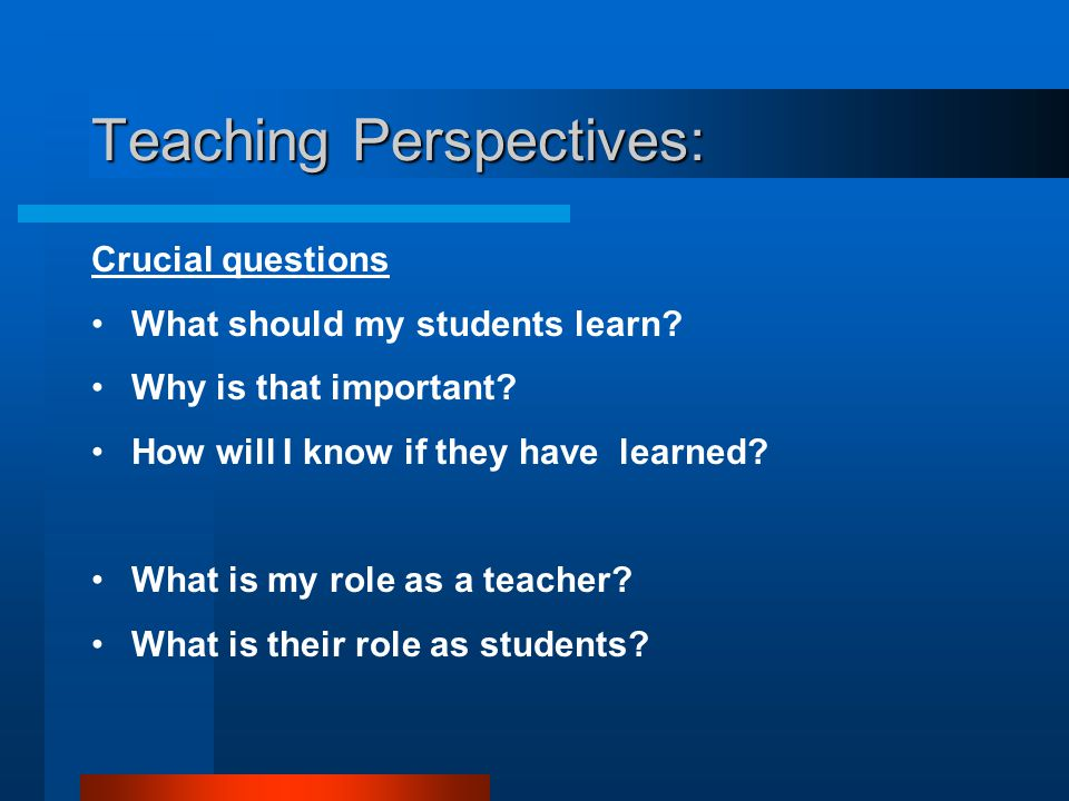 Teaching Perspectives: