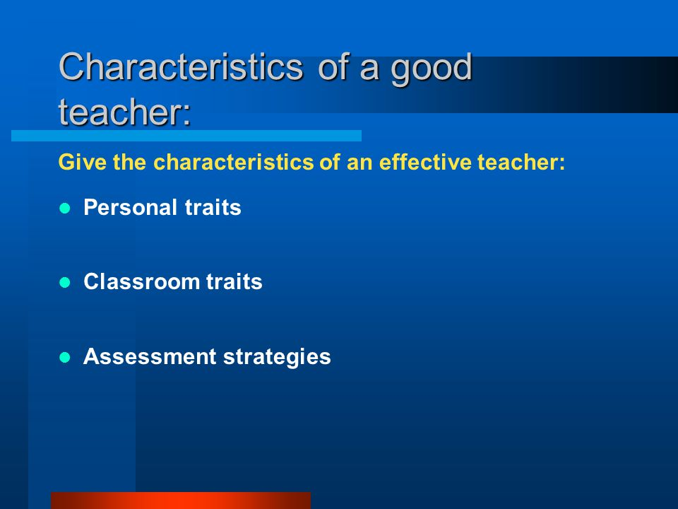 Characteristics of a Special Education Teacher
