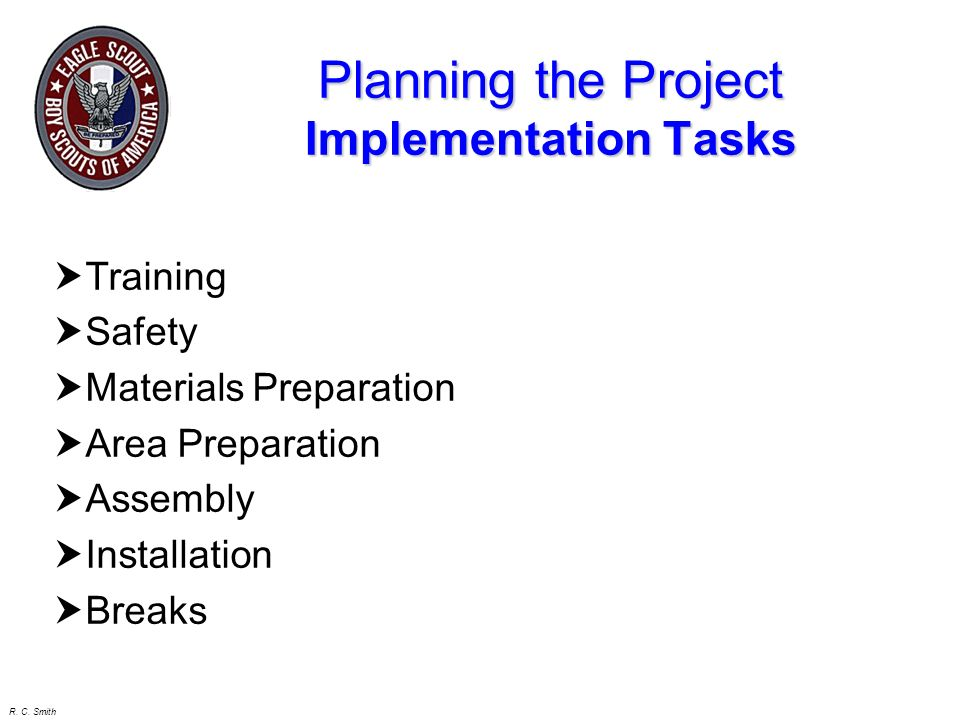 Planning the Project Implementation Tasks