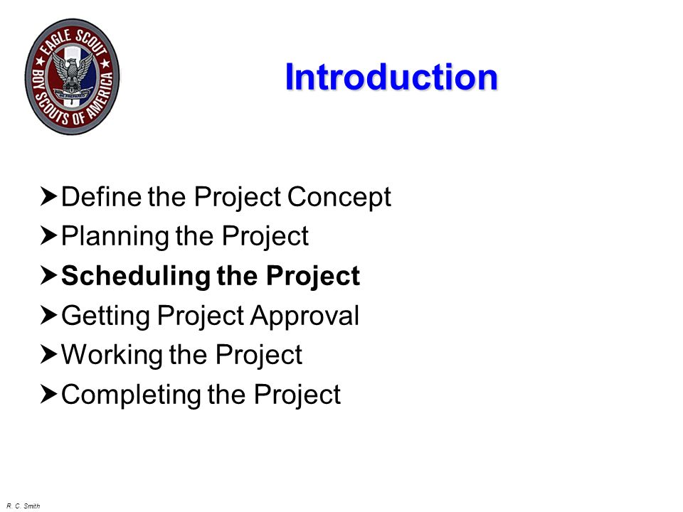 Introduction Define the Project Concept Planning the Project