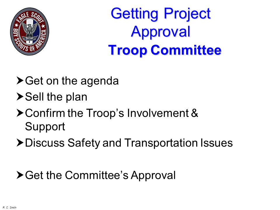 Getting Project Approval Troop Committee