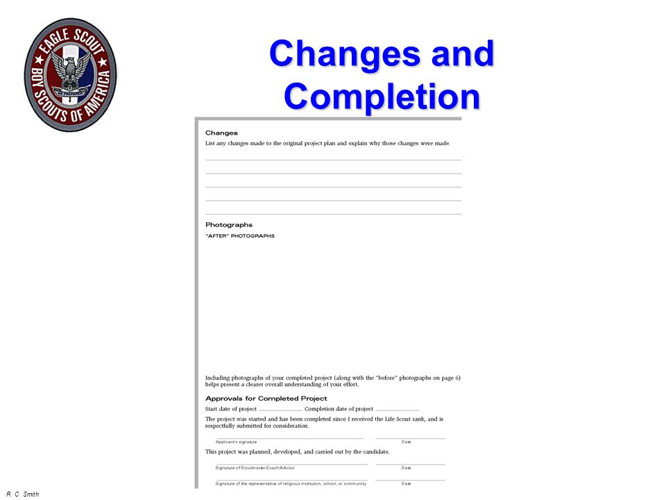 Changes and Completion