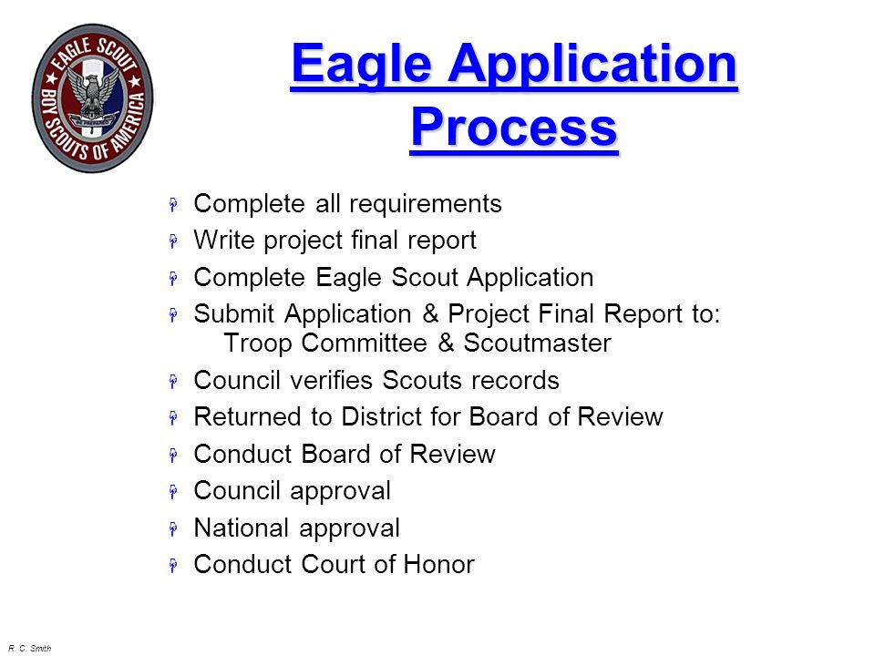 Eagle Application Process