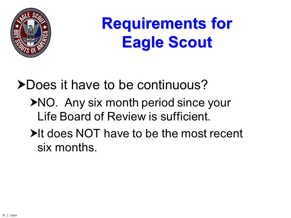 Requirements for Eagle Scout