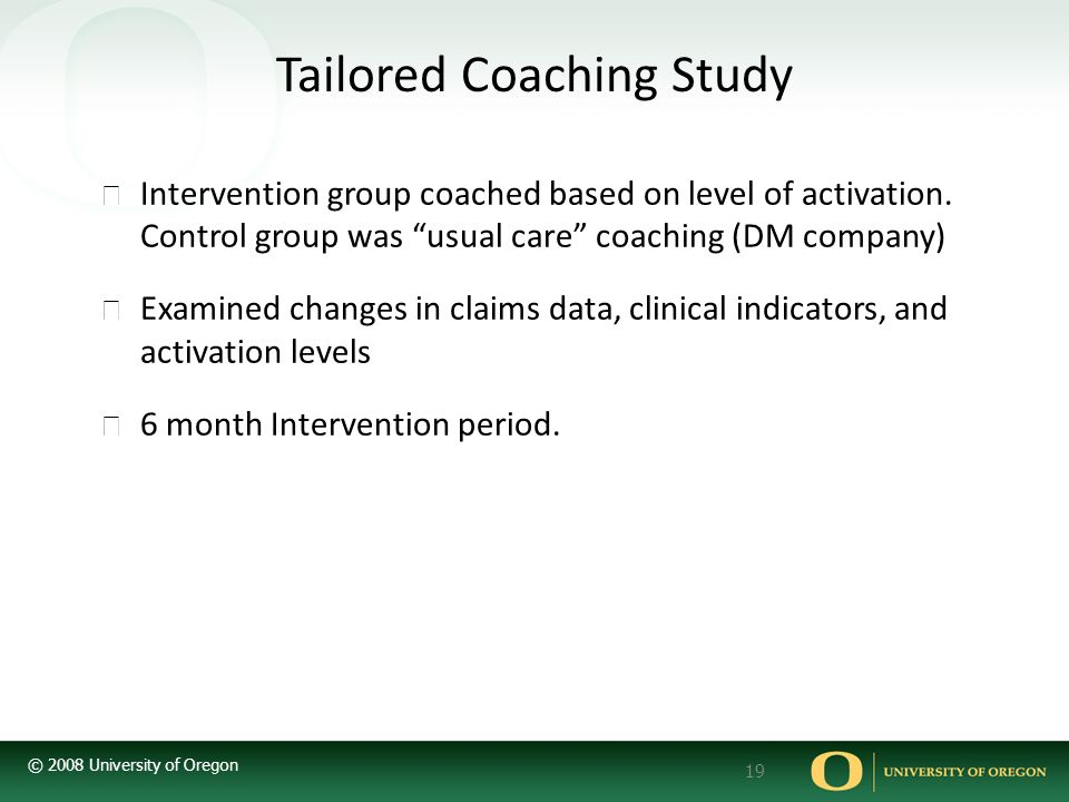 Tailored Coaching Study