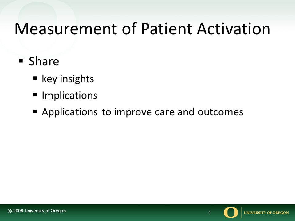 Measurement of Patient Activation