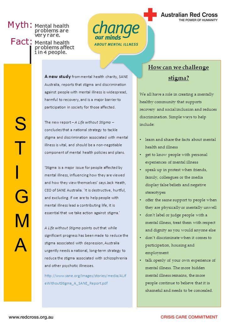How can we challenge stigma