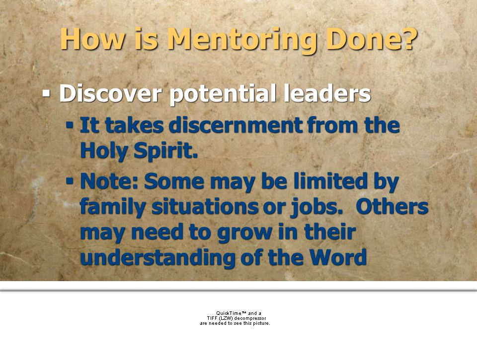 How is Mentoring Done Discover potential leaders