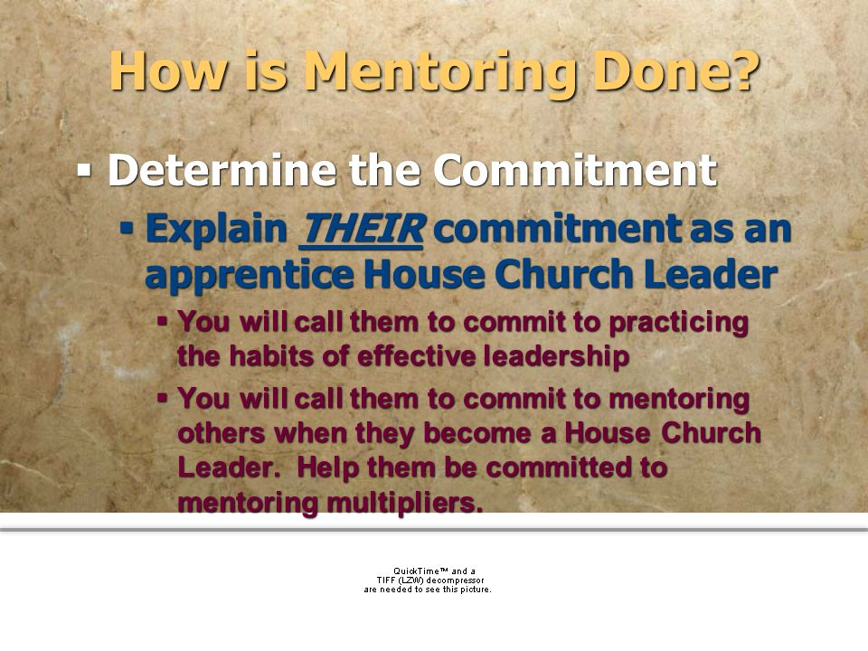 How is Mentoring Done Determine the Commitment